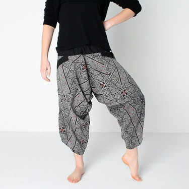 Avenue Cross Harem Summer Pants Ghodo - 3