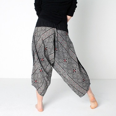 Avenue Cross Harem Summer Pants Ghodo - 5