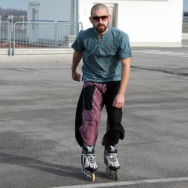 Dapper Maya Harem Pantalones Anchos Ghodo - 9