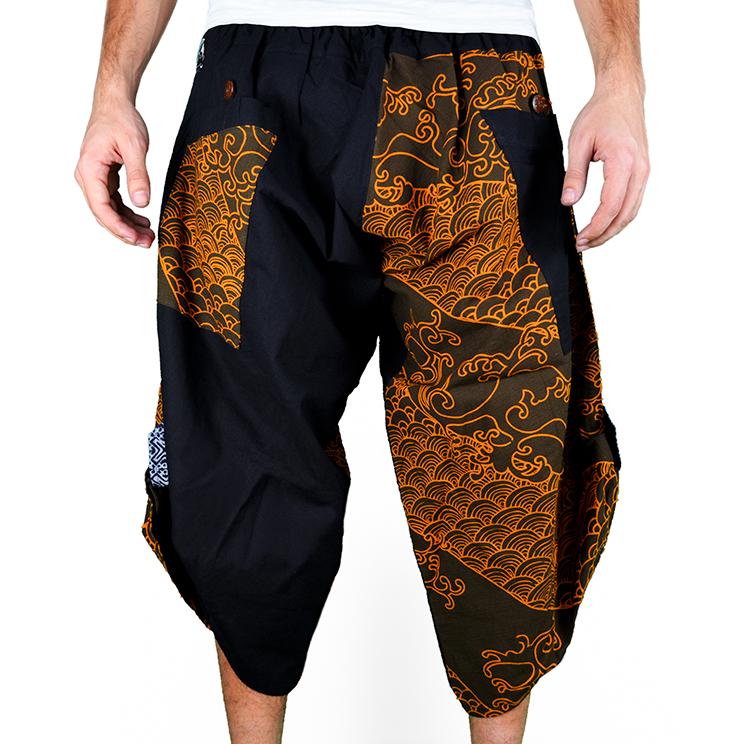 Dapper Koi Gold Harem Pantalones Anchos Ghodo - 1