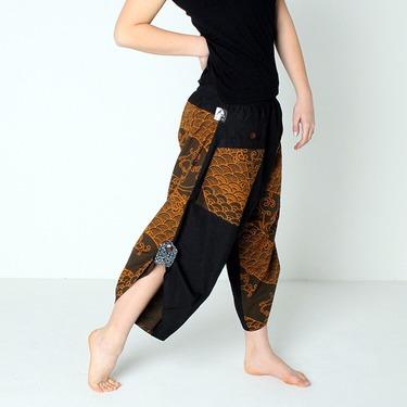 Dapper Koi Gold Harem Pantalones Anchos Ghodo - 4