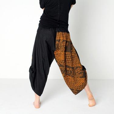 Dapper Koi Gold Harem Pantalones Anchos Ghodo - 5