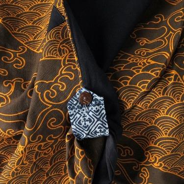Dapper Koi Gold Harem Pantalones Anchos Ghodo - 6